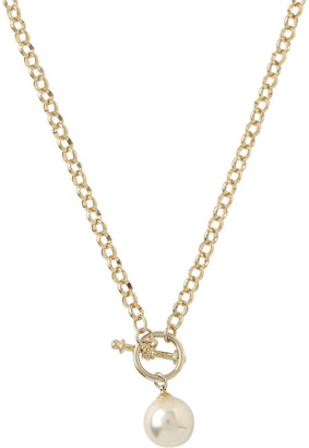 Gregory Ladner Chain Faux Pearl Fob Necklace Gjnl012M