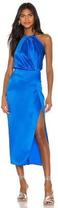 Mason by Michelle Mason Pleat Halter Dress