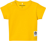 Mini Rodini Yellow Solid Rib Tee