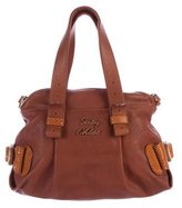 See by Chloe Embossed Leather-Trimmed Satchel