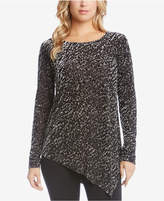 Karen Kane Asymmetrical Burnout Velvet Top