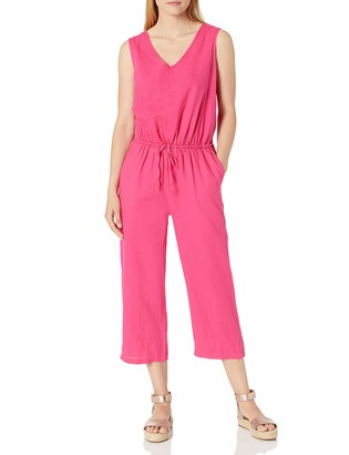 Amazon Essentials Women's Sleeveless Linen Jumpsuit