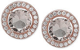 Giani Bernini Pavé & Cubic Zirconia Stud Earrings in 18k Rose Gold-Plated Sterling Silver, Only at Macy's