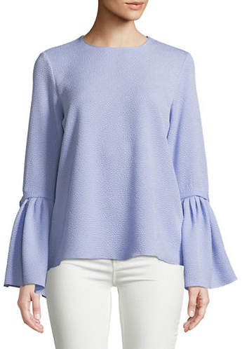 Ellen Tracy Petite Trench-Sleeve Blouse