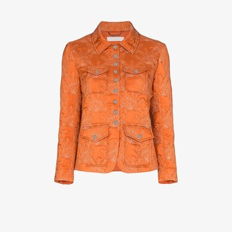 Chloé Flame Quilted Silk Jacket