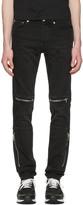 Givenchy Black Moto Zips Jeans