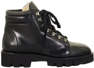 Fabiana Filippi Mirna Leather Biker Boots Black
