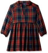 Serene Bohemian Women's Double Color Broad Checks Design Front Deep Neck Blouse Top (Orange Navy XS)
