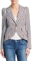 Smythe Striped One-Button Blazer