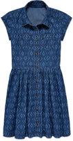 Arizona Short-Sleeve Ikat Denim Shirtdress - Girls 7-16 and Plus