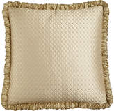 Horchow Austin Horn Classics Antoinette Diamond-Stitch European Sham with Ruched Welt