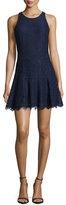 Joie Adisa Sleeveless Lace Fit & Flare Dress, Navy Blue