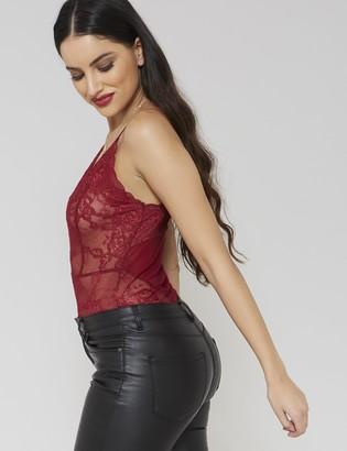Public Desire Scallop Lace Bodysuit