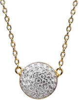 Crislu Necklace, 18k Gold and Platinum Pave Over Sterling Silver Cubic Zirconia Pendant (4/10 ct. t.w.)