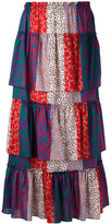 Sonia Rykiel layered patchwork skirt - women - Cotton - 36