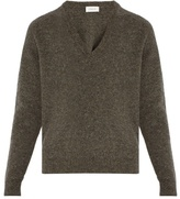 Lemaire Oversized V-neck wool-knit sweater