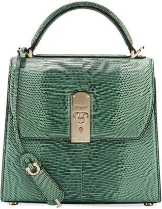 Salvatore Ferragamo The Boxyz Lizard Top Handle Bag