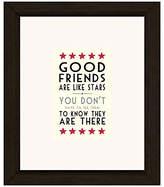 Cezanne East of India Good Friends Like Stars Framed Print, 23 x 27cm