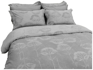 Natural Comfort Yue Home Textile Yarn-Dyed Linen Cotton Duvet Cover Set, Hydrangea, Gr