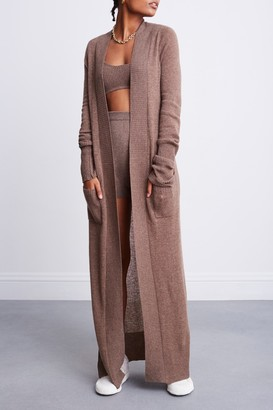 Bandier X Brodie Cashmere 100% Cashmere Duster Maxi Cardigan in
