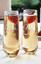 Cathy's Concepts 'For The Couple' Stemless Champagne Flutes