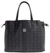 MCM Large Shopper Project Coated Canvas Shopper - Black