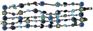 Les Nereides Blue Metal Bracelets