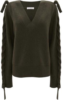 J.W.Anderson plait-detail V-neck jumper