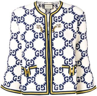 Gucci Logo Print Jacket