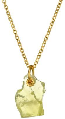 Monica Vinader 18K Yellow Gold Vermeil & Lemon Quartz Pendant Necklace