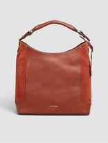 Calvin Klein Smooth Leather Suede Hobo
