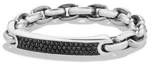 David Yurman Streamline Id Bracelet With Black Diamonds