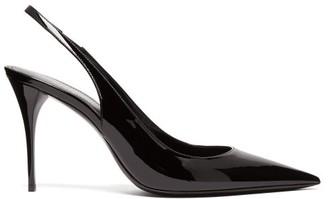 Saint Laurent Lexi Patent-leather Slingback Pumps - Black