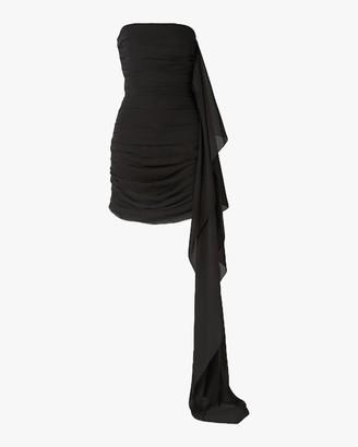 Semsem Strapless Ruched Mini Dress