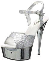 Pleaser USA Women's Delight-609G Buckle-Strap Sandal