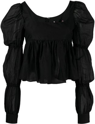 Brock Collection Ruffled Long-Sleeved Top