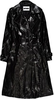 Apparis Danny crocodile-effect trench coat