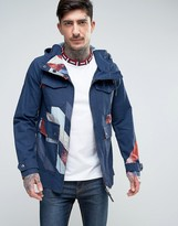 Pretty Green Kirby Dales Parka Jacket Printed in Blue