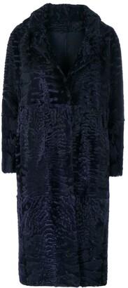 Liska Textured Single-Breasted Coat