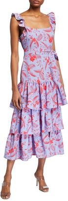 LIKELY Charlotte Ruffled Midi Dress