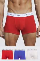 BoohooMAN 3 Pack Mixed Colour MAN Signature Trunks