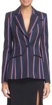 Altuzarra Stripe Wool & Cotton Blazer