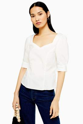 Selected Womens **Fitted Top By White