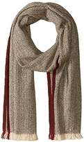 Hickey Freeman Men's Lightweight Cashmere Herringbone Scarf