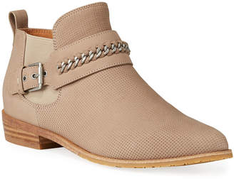 Gentle Souls Neptune Chain Perforated Nubuck Booties
