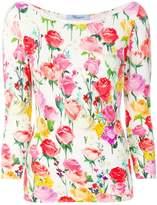 Blumarine roses print top