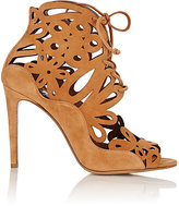 Tabitha Simmons WOMEN'S LASER-CUT NINA BOOTIES-TAN SIZE 9
