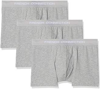 French Connection Men's 3 Pack Fc Boxer Shorts, Grey (Fc7 G 1), X-Large (Pack of 3
