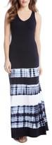 Karen Kane Women's Tie Dye Stripe Maxi Dress
