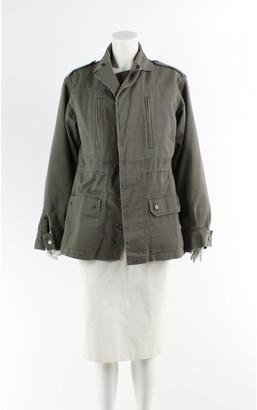 Yves Salomon Green Cotton Coat for Women